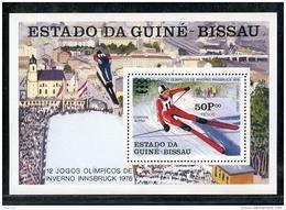 Guinea Bissau, 1976, Olympic Winter Games Innsbruck, Skiing, MNH, Michel Block 36A - Guinea-Bissau