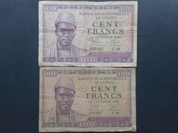 Guinea 100 Francs 1958 (Lot Of 2 Banknotes) - Guinée