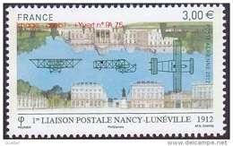 France N° PA  75 ** Poste Aérienne - Première Liaison Nancy -> Lunéville - 1960-.... Postfris
