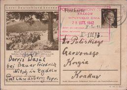 ENTIER 1942 - CROIX ROUGE -KRAKOW - - 1939-44: World War Two