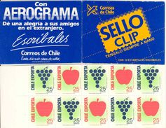 CHILE, 1989, Booklet 10a, Error Booklet, In Wrong Colour: Blue! - Chile