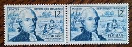 France - YT N°1021 Paire - Jean-Pierre Claris De Florian - 1955 - Neufs - France