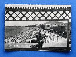 Cartolina Cattolica - Un Tratto Di Spiaggia - 1953 - Rimini