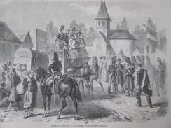 Gravure D Epoque 1857 Le Village De Grand-Mourmelon    Camp De Chalons - Mourmelon Le Grand
