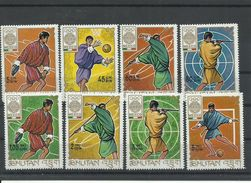 BHUTAN  YVERT  187/94   MNH  ** - Verano 1968: México