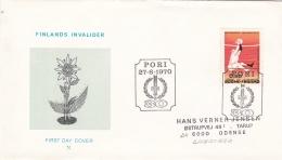 Finland FDC 1970 Handisport - Finlands Invalider (DD6-34) - Handisport
