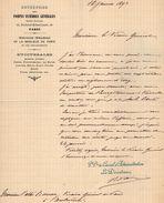 VP11.111 - Lettre - Entreprise Des Pompes Funèbres Générales à PARIS Boulevard Richard - Lenoir - France