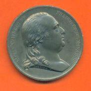 """Médaille Louis XVIII """" Charte Constitutionnelle 04 Juin 1814 """"  2 Scans - Royaux / De Noblesse"""
