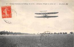 78-VELIZY- CHAMP D'AVIATION- AEROPLANE WRIGHT EN PLEIN VOL - Velizy