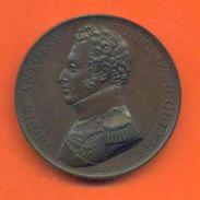 """Médaille Bronze Louis Antoine Duc D'angoulème """" Discours Au Dos Pont Saint Esprit 10 Avril 1815 """"  2 Scans - Royaux / De Noblesse"""