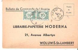 Bulletin De Commande - DEPÔT-RELAIS De REDU Du 3/11/1941 V/Woluwe - Taxé 10c. Paire TTx 33 WOLUWE - Postmarks With Stars