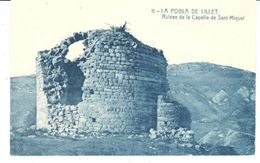 POSTAL    LA POBLA DE LILLET  - BARCELONA  - RUINA DE LA CAPILLA DE SAN MIIGUEL ( RUINES DE LA CAPELLA DE S.MIQUEL ) - Tarragona