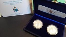 CITTA' DEL VATICANO YEAR 1995  - QUALITA' FDS - PROOF - VERSO L'ANNO SANTO 2000 - COPPIA  ARGENTO - Vaticano