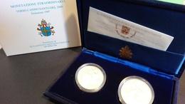 CITTA' DEL VATICANO YEAR 1997  - QUALITA' FDS - PROOF - VERSO L'ANNO SANTO 2000 - COPPIA  ARGENTO - Vaticano