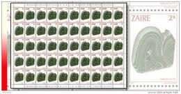 Zaire 1181** 2K  Minerai Malachite - Feuille/Scheet De 50 MNH - Zaïre