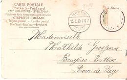 FRAUDE - TP. 137 Coupé Oblit. FORTUNE Agence VERVIERS 1*(Texte En Dessous) Arr. Type Allemand HERVE  Intér. - Postmark Collection