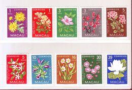 MACAO ASIE 1953 - YT N° 363/372 . Fleurs Diverses - Neuf ** - Sonstige