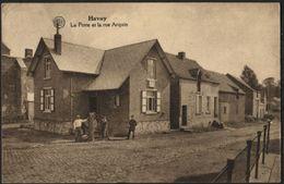 HAVAY QUEVY  La Poste Et La Rue Acquin Bureau De Poste. Obl. Relais 1929 Postkantoor. - Quévy