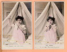Serie 10 Cpa Carte Postale Ancienne - Ave Maria Pl Paris - Christianisme