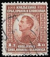 Timbre De Yougoslavie  1923   '  Yvert  N° 150 '   Alexandre 1er, 1.d . Brun-rouge - Oblitérés