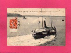 """Transport, Bateaux, """"La Côte D'Emeraude"""", St Malo (35), Départ Du Bateau Faisant Le Service Entre St Malo, St Servan - Ferries"""