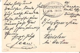 """CP. """"Gruss Aus Bullingen(Eifel)"""" Oblit. AMBULANT JUNKERATH-MALMEDY/BAHNPOST/Z.675 Du 29/12/14 TB. - WW I"""