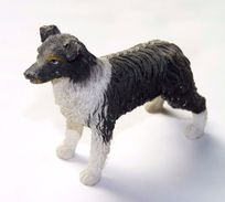 FIGURINE CHIEN RESINE / 8 X 6.5 Cm Environ - Dogs