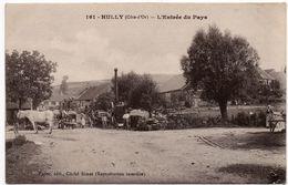 Hully (Huilly) : L'entrée Du Pays, Avec Batteuse (commune D'Allerey) (Edit. Porter, N°161 - Cliché Rimet, Arnay Le Duc) - Other Municipalities
