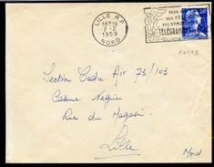 MAURY N° 1011B MARIANNE DE MULLER S/LSI Provenant De Roulette En Date Du 7/2/1959. - 1921-1960: Période Moderne