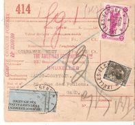 Bulletin Colis Postal TCF 176 + TP.401 IXELLES 9/3/1935 + REMBOURSEMENT Tril.  48frs Dos Gent RAbot - Belgium