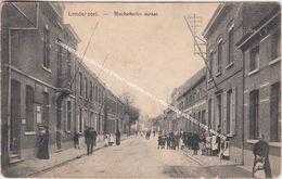 LONDERZEEL 1914 MECHELSE STRAAT / GEBOUW LINKS = POSTERIJEN POSTES / VEEL ANIMATIE - Londerzeel