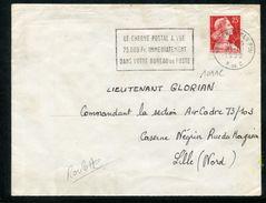 MAURY N° 1011C MARIANNE DE MULLER S/LSI Provenant De Roulette En Date Du 21/10/1959. - 1921-1960: Période Moderne