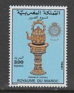 TIMBRE NEUF DU MAROC - BOUILLOIRE ET SUPPORT ORNES (SEMAINE DE L'AVEUGLE) N° Y&T 1101 - Art