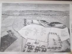 2 Gravures D Epoque 1857 Le Camp Militaire De Chalons  Vue Générale    Plan   Pres De Mourmelon - Militaria