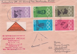 Germany Nachnahme - COD Franked W/1968 Olympic Games Stamps (DD8-12) - Ete 1968: Mexico