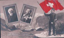 Zur Erinnerung An Der Besuch Des Kaisers Wilhelm II In Der Schweiz 1912 (4.9.12) - Personnages