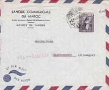 MAROC ESPAGNOL 1952 PLI AERIEN DE TANGER - Spanisch-Marokko