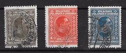 Timbres De Yougoslavie  1926 & 27  _    Alexandre 1er, 50 P. Sépia, 3 D. Bleu, 4 D. Rouge Orange - Oblitérés