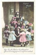 Cpa Fantaisie Père Noël Et Enfants, Cadeaux, Jouets - Joyeux Noël - Santa Claus