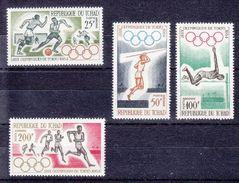 MICHEL 120-123** - AERO - JEUX OLYMPIQUE DE TOKIO 1964 - COTE 16.-- CHF - Tchad (1960-...)