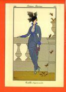 Mode Femme - Illustrateur - Costumes Parisiens 1914 - Toilette D'après Midi (dimensions 17 X12 Cm)(non écrite) - Mode