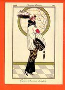Mode Femme - Illustrateur - Costumes Parisiens 1914 - Parure D'hermine Et Putois  (dimensions 17 X12 Cm)(non écrite) - Mode