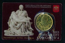 CITTA' DEL VATICANO YEAR 2013  -50 Cent - Coin Card N° 4 - Vaticano