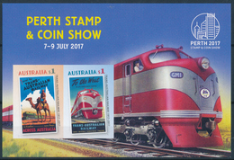 AUSTRALIA 2017 PERTH STAMP & COIN SHOW, Railway Minisheet** - 2010-... Elizabeth II