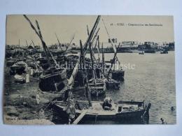 EGITTO EGYPT SUEZ  Costruction Des Samboucks Boat Old Postcard - Suez