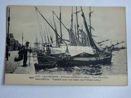 GRECIA GREECE SALONICCO  Fisherman Fishing Boat Barche Pesca Old Postcard - Grecia