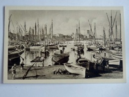 GRECIA GREECE RODI Porto Dei Caicchi Fisherman Fishing Boat Barca Pesca Old Postcard - Grecia