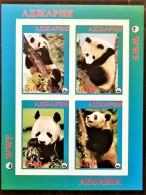 RUSSIE, Mamiferes Ours, Pandas, Wwf . Feuilet Non Dentelé (imperf) Emis En 1998 **. MNH. - Orsi