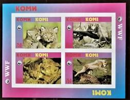 RUSSIE, Komi,  Felins Wwf . Feuilet Non Dentelé (imperf) Emis En 1998 **. MNH. - Felini