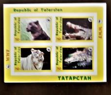RUSSIE, Tatarstan Felins, Crocodiles, Wwf . Feuilet Non Dentelé (imperf) Emis En 1998 **. MNH. - W.W.F.